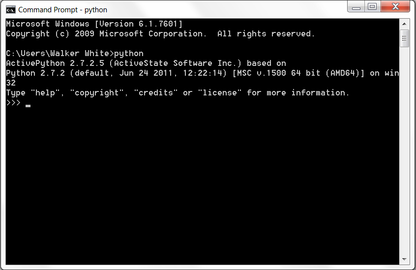It is possible to run python modules from the command shell as well