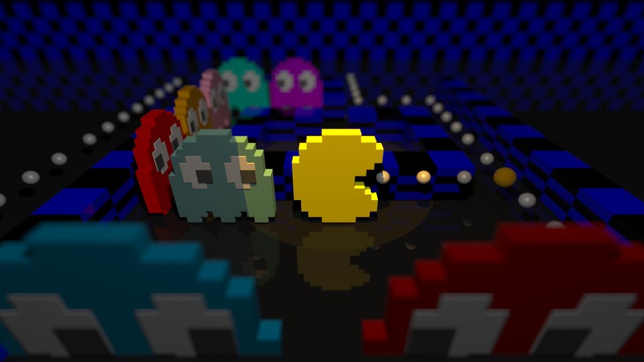 Computer graphics of Pac Man.