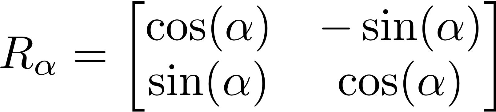 Image result for 2d rotation matrix
