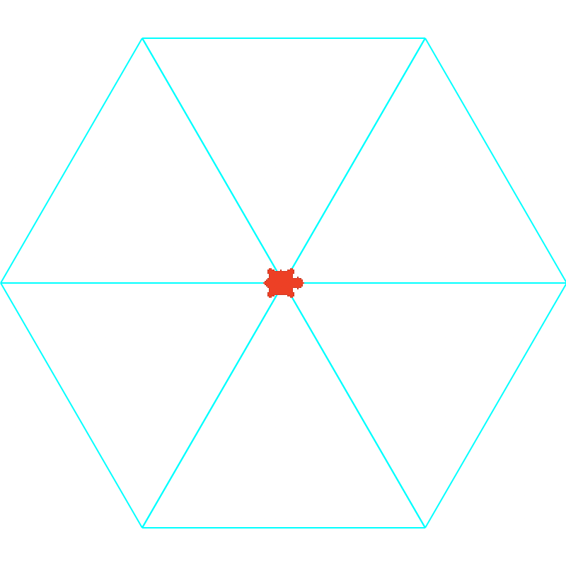 Complete The Procedure Draw Hexts This Method Should Six Equilateral Triangles Using Color Cyan With Side Lengths S Form