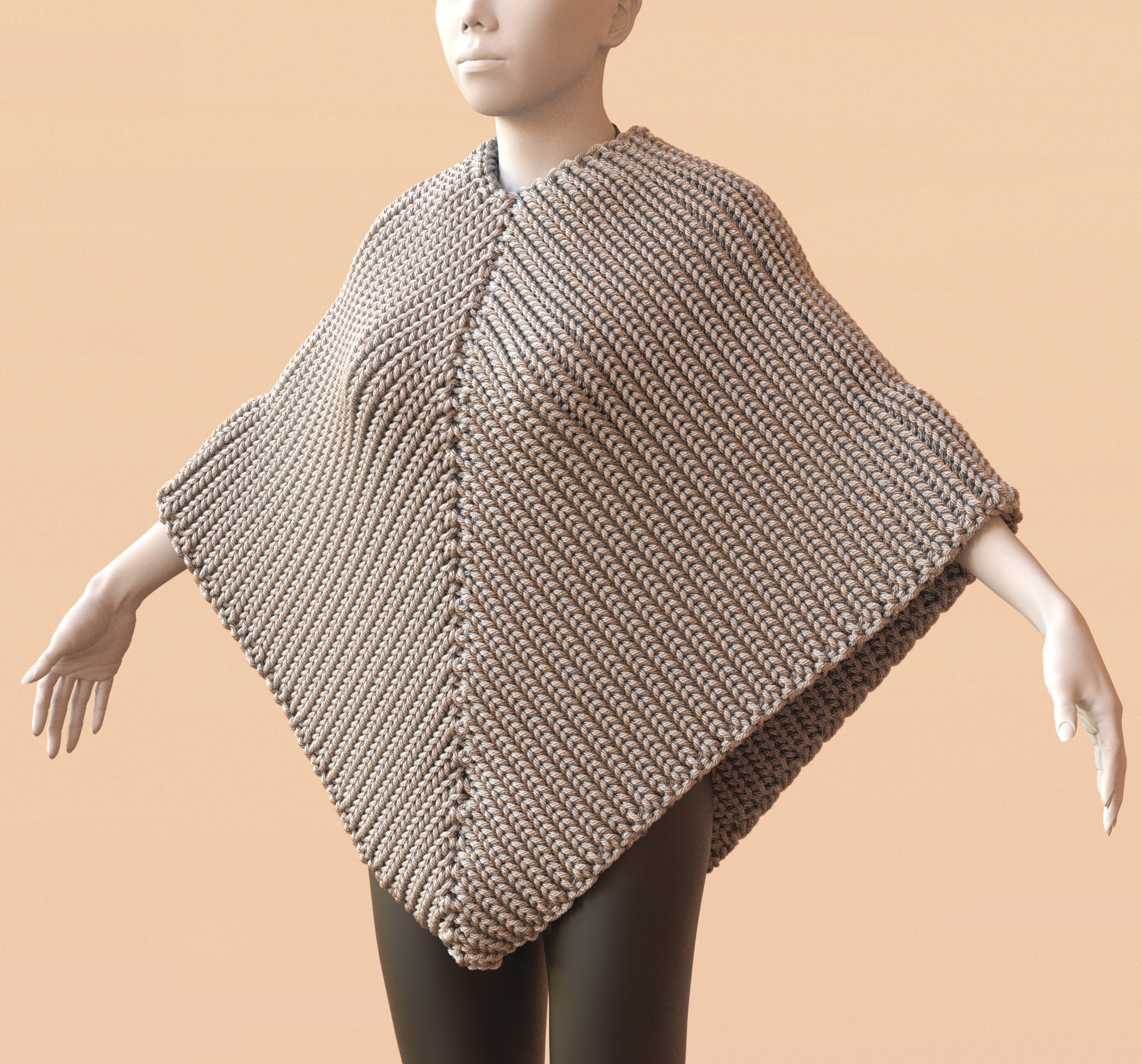 Stitch Meshes For Modeling Knitted Clothing With Yarn