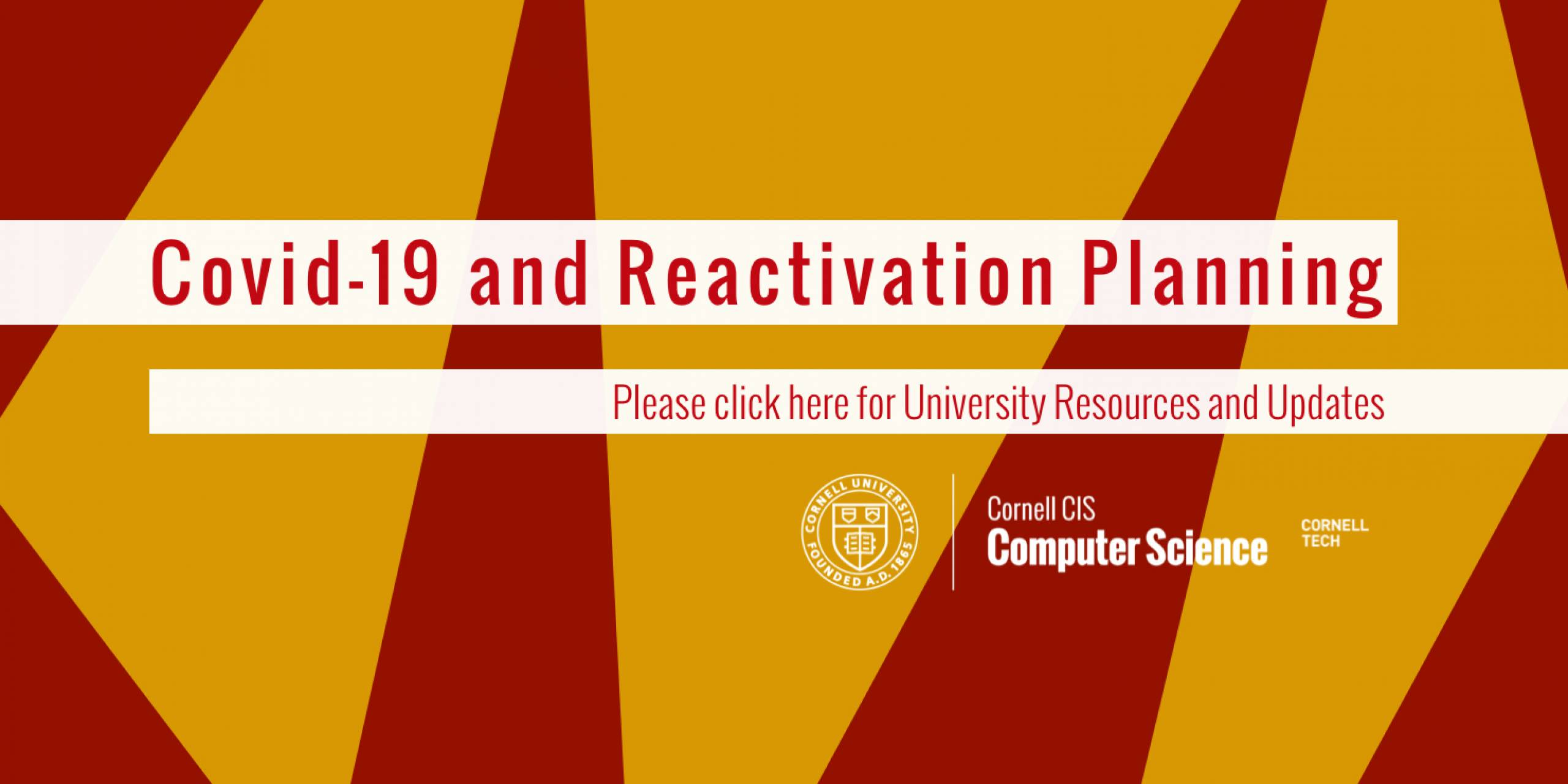 Covid-19 and Reactivation Planning