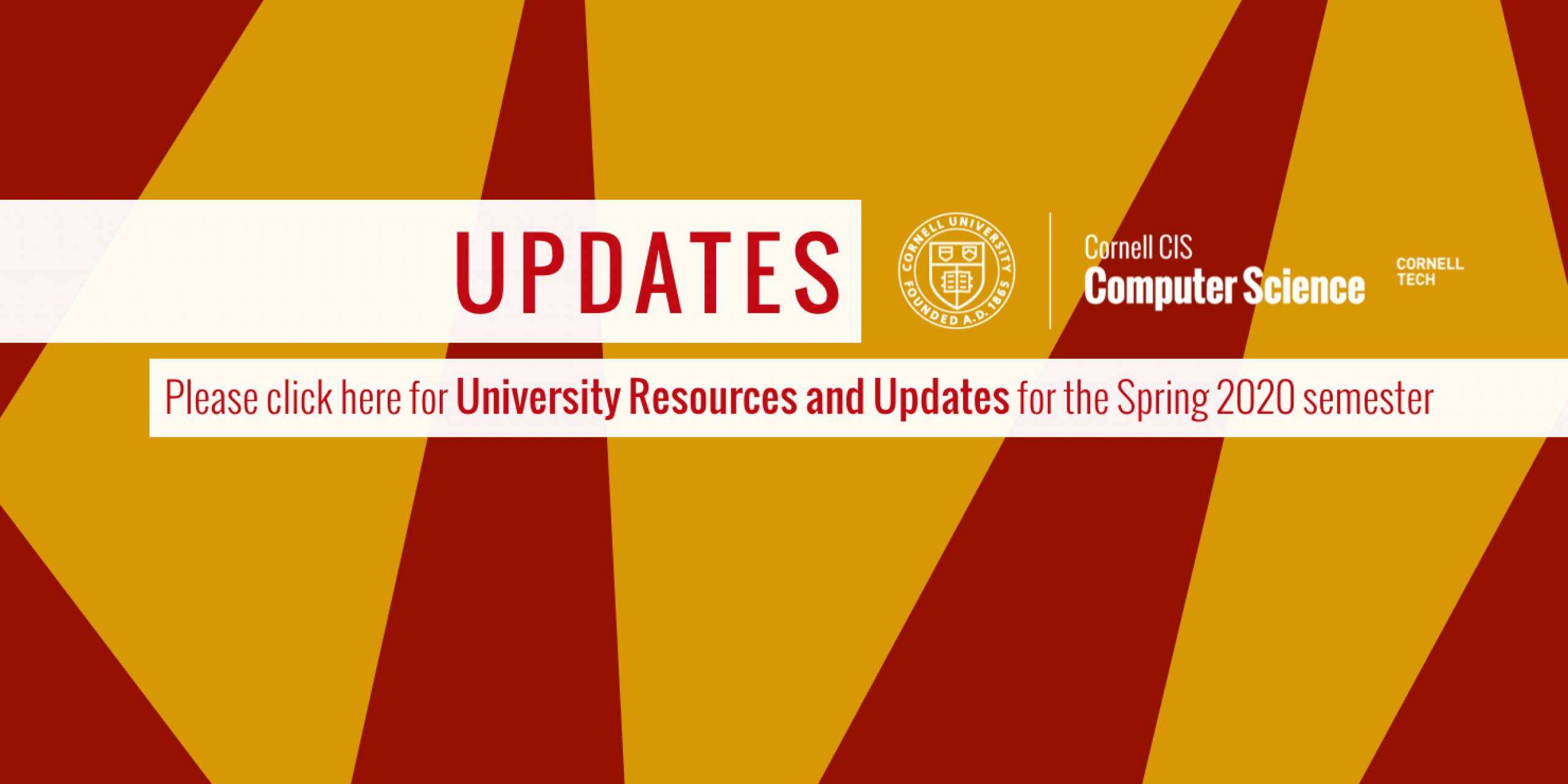 University Resources and Updates for the Spring 2020 semester
