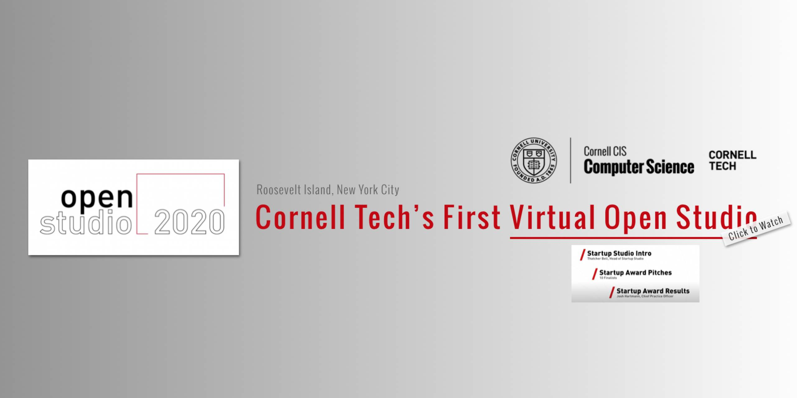 Cornell Tech's First Virtual Open Studio