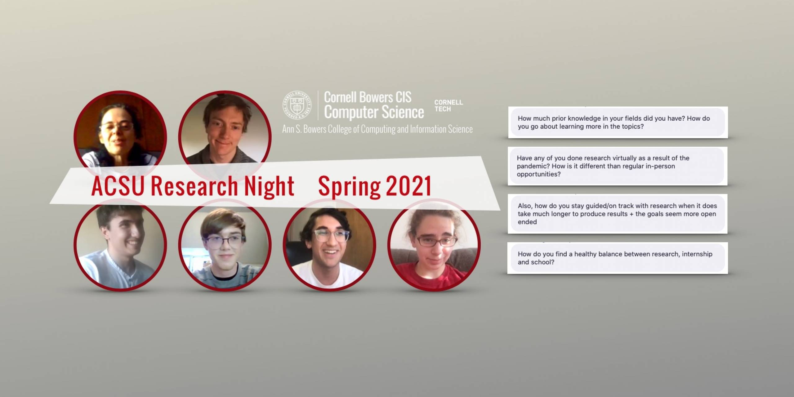 ACSU Research Night — Spring 2021