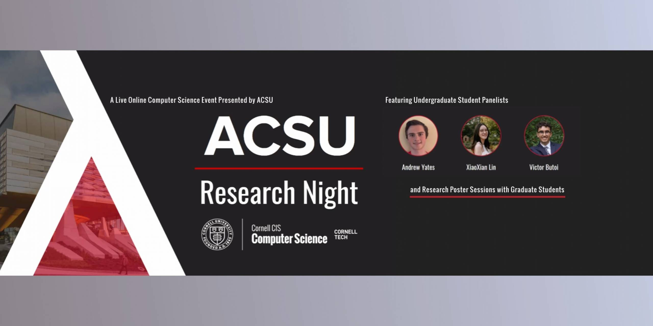 Computer Science Research Night, Fall 2020
