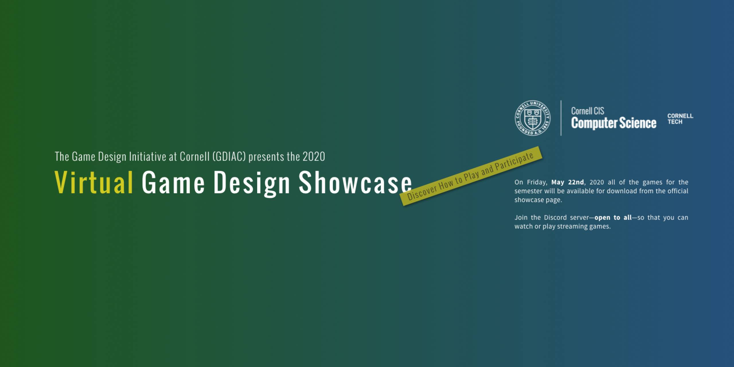 GDIAC Presents the 2020 Virtual Game Design Showcase