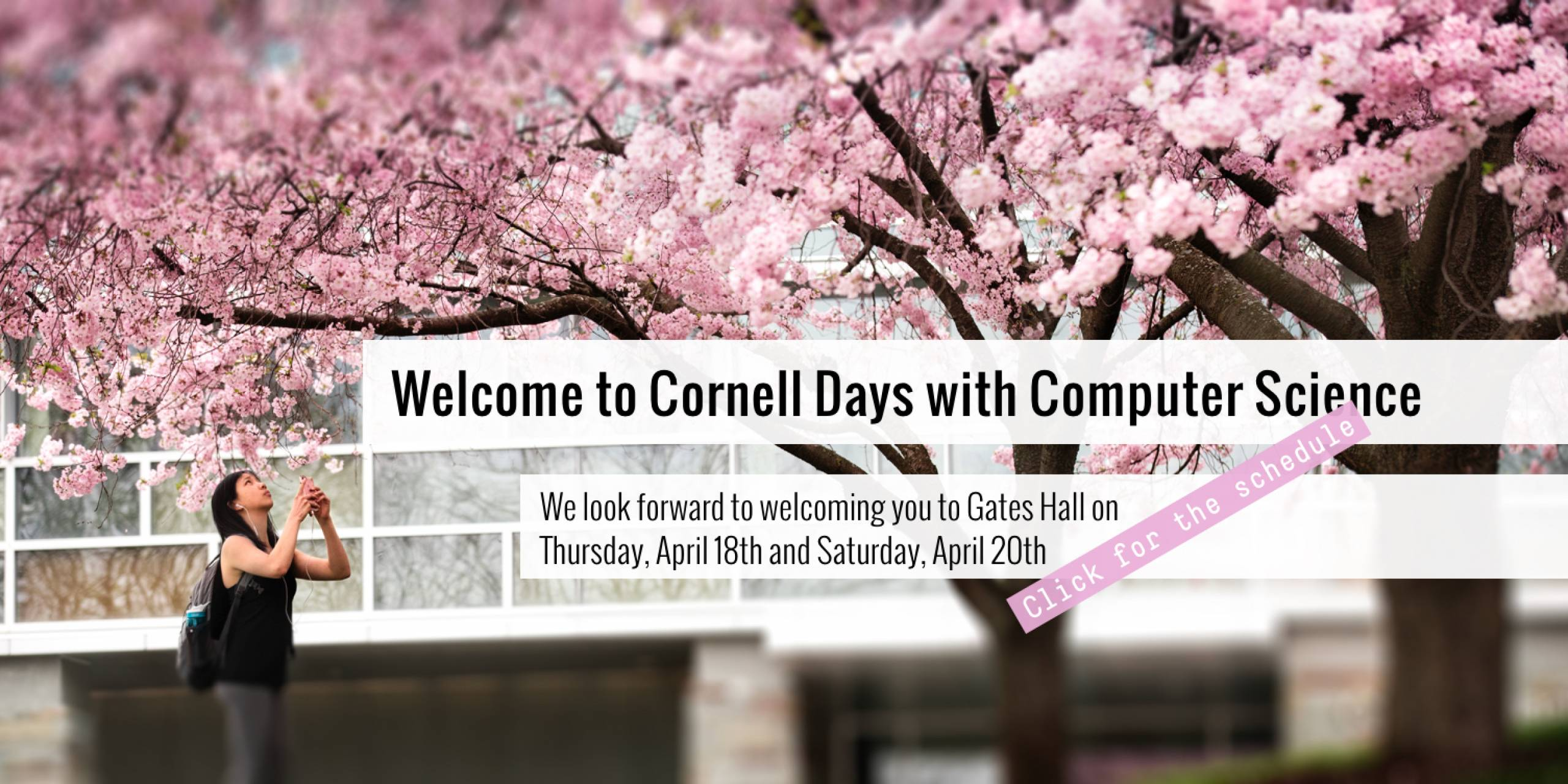 Welcome to Cornell Days with Computer Science