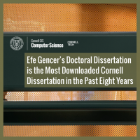 Efe Gencer's Doctoral Dissertation is the Most Downloaded Cornell Dissertation in the Past Eight Years