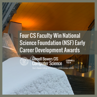 Four CS Faculty Win National Science Foundation (NSF) Early Career Development Awards