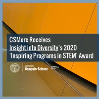 CSMore Receives Insight into Diversity's 2020 'Inspiring Programs in STEM' Award