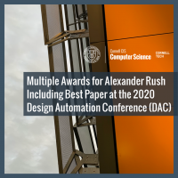 Multiple Awards for Alexander Rush Including Best Paper at the 2020 Design Automation Conference (DAC)