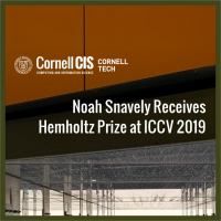 Noah Snavely Receives Helmholtz Prize at ICCV 2019