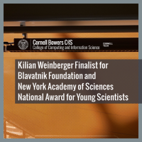 Kilian Weinberger Finalist for Blavatnik Foundation and New York Academy of Sciences National Award for Young Scientists