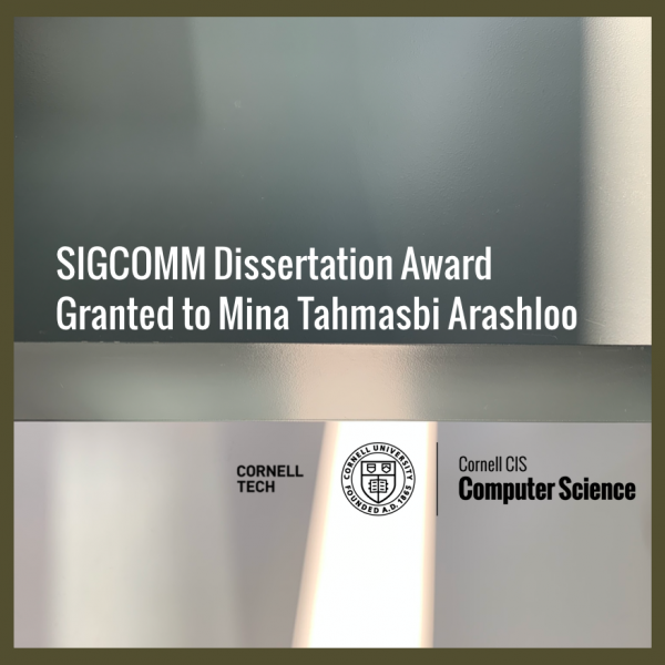 SIGCOMM Dissertation Award Granted to Mina Tahmasbi Arashloo