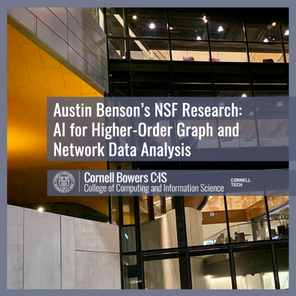 Austin Benson's NSF Research: AI for Higher-Order Graph and Network Data Analysis