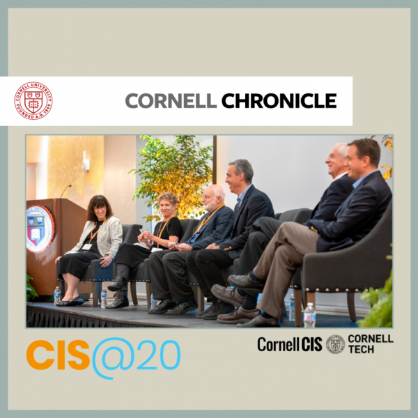 Cornell Chronicle Reports on the Creation of CIS