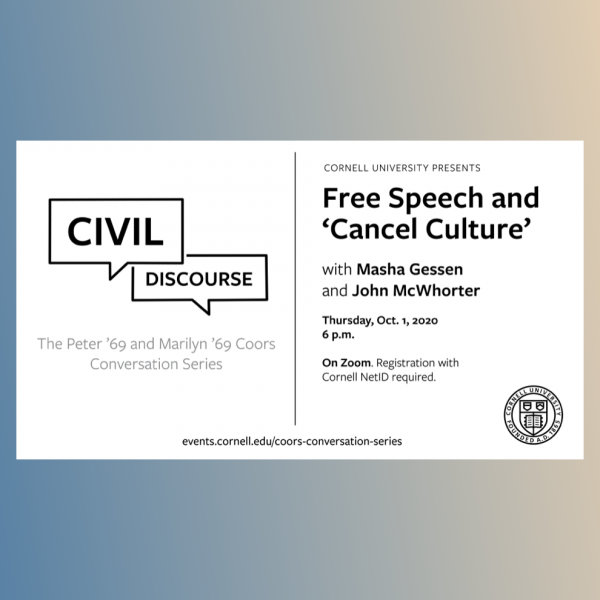 Civil Discourse: Free Speech and 'Cancel Culture' with Masha Gessen and John McWhorter
