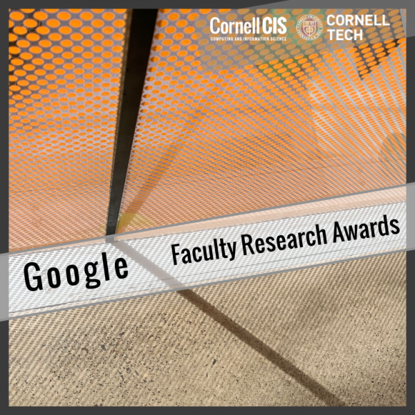 Google Faculty Research Awards for Multiple Computer Science Faculty