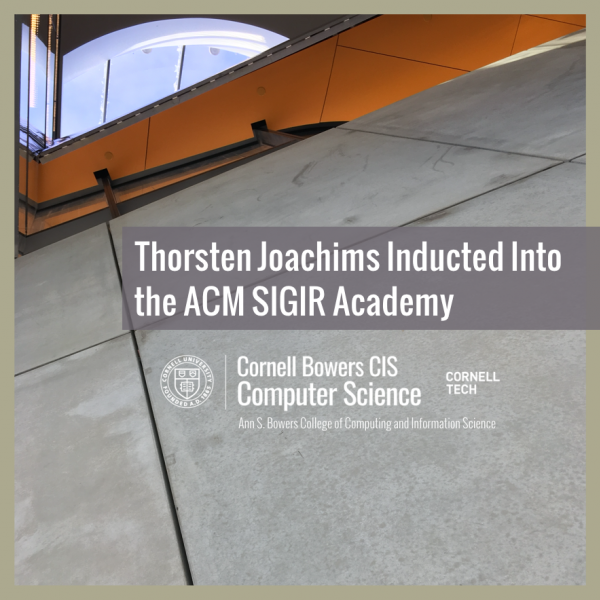 Thorsten Joachims Inducted into the ACM SIGIR Academy