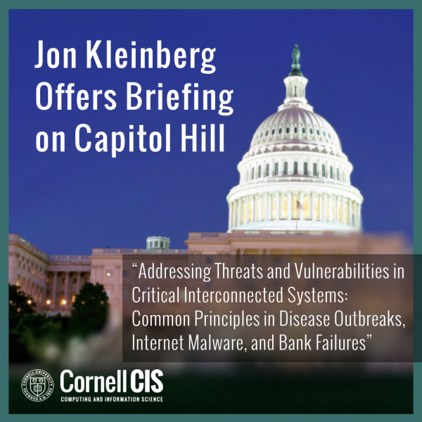 Jon Kleinberg Offers Briefing on Capitol Hill