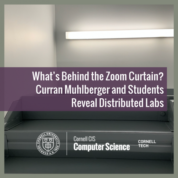 What's Behind the Zoom Curtain? Curran Muhlberger and Students Reveal Distributed Labs