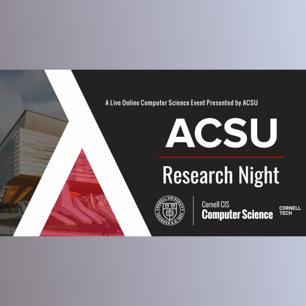 ACSU Research Night Featuring Undergraduate Student Panel and Graduate Student Poster Sessions