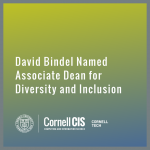 David Bindel Named Associate Dean for Diversity and Inclusion