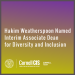 Hakim Weatherspoon Named Interim Associate Dean for Diversity and Inclusion