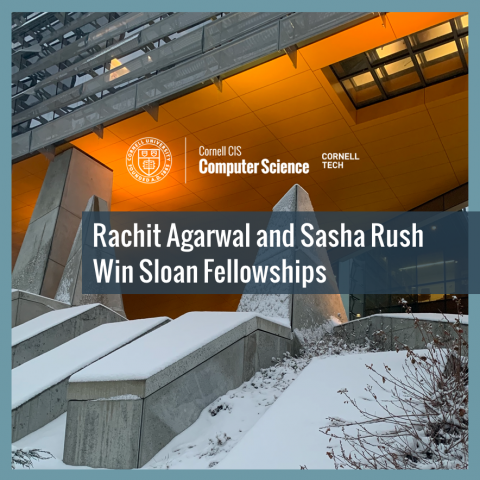 Rachit Agarwal and Sasha Rush Win Sloan Fellowships