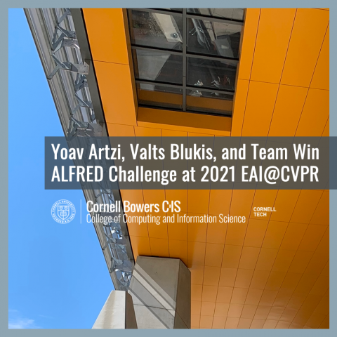 Yoav Artzi, Valts Blukis, and Team Win ALFRED Challenge at 2021 EAI@CVPR